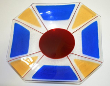 Blue Yellow And Red Bowl