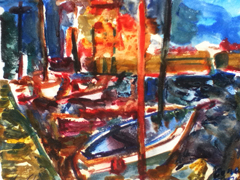 Boats At Honfleur