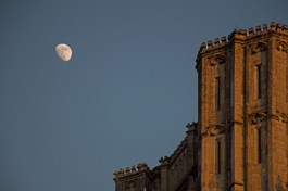 Moon Over Wells Cathedral