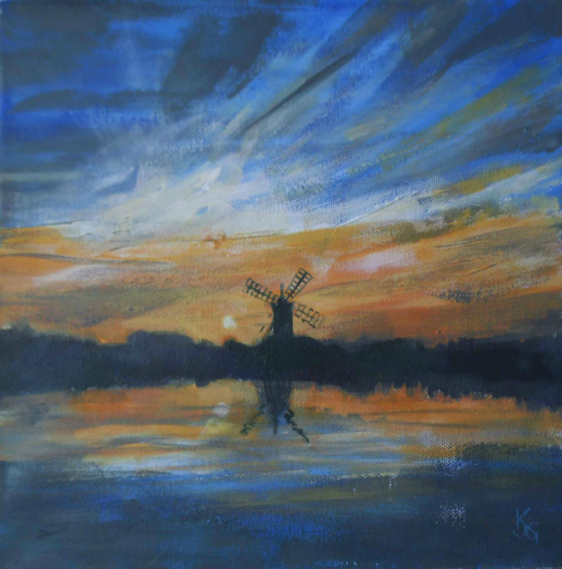 Windmill Sunset, Norfolk Broads